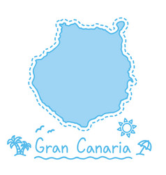 gran canaria island map isolated cartography vector image vector image