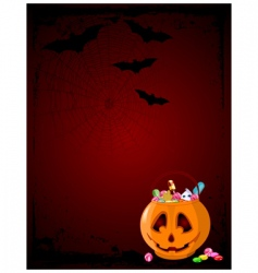 halloween treats background vector image vector image