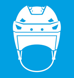 Hockey helmet icon white vector