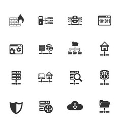 Hosting provider icon set vector