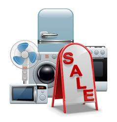 Household appliances sale vector