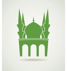 islamic mosque icon vector image vector image