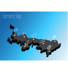 map united kingdom isometric concept vector image vector image