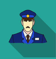 Museum security guard icon in flat style isolated vector
