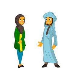 muslim couple on isolated white background vector image