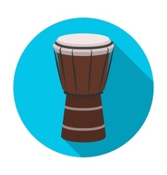National brazilian drum icon in flat style vector