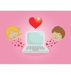 online dating vector image
