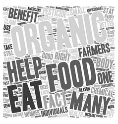 Organic food benefits why you should eat organic vector