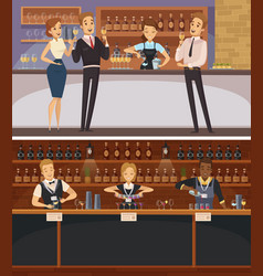 party in bar interior cartoon banners vector image
