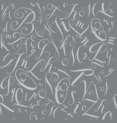 Pattern of modern hand written alphabet vector