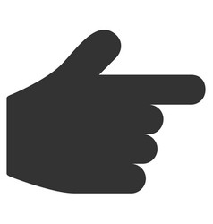 Pointer finger flat icon vector