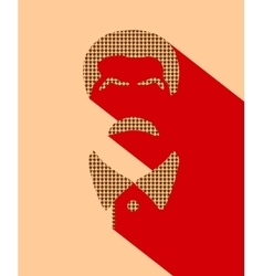 Portrait of joseph stalin flat icon style vector