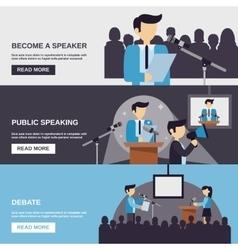Public Speaking Banner vector image