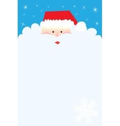 Santa Claus Portrait background vector image vector image