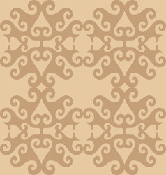 Seamless eastern ornamental wallpaper vector image