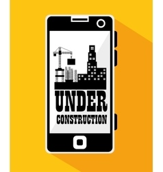 Smartphone site under construction vector