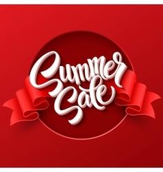 Summer sale Ribbon label vector image vector image