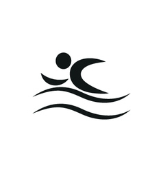 Summer swim water people pictogram icon vector