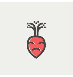 Turnip thin line icon vector
