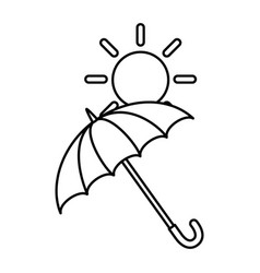 umbrella protective with sun vector image
