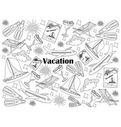 Vacation colorless set vector image vector image