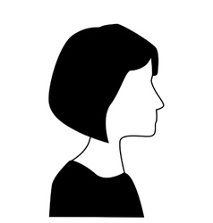 Profile silhouette person icon design vector
