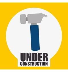 Hammer construction tools vector