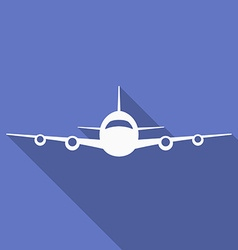 Icon of plane airplane symbol front view aircraft vector