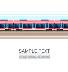 train on a white background in movement vector image