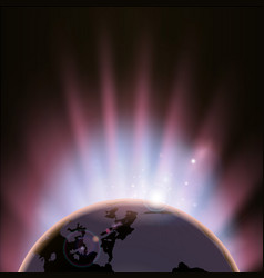 eclipse globe concept background vector image