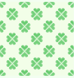 Clover leaf embroidery floral background green on vector