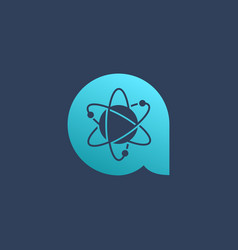 Letter a atom logo icon design template elements vector