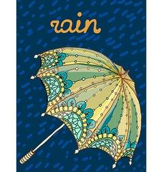 Beautiful umbrella vector