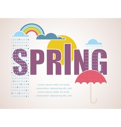 Spring time card vector
