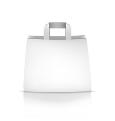 empty white shopping paper bag vector image