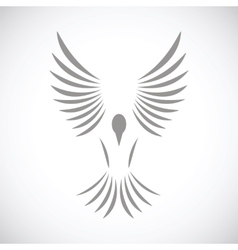 Bird black icon vector