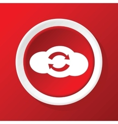 Cloud exchange icon on red vector