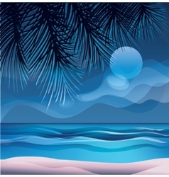 Tropic exotic island ocean beach vector