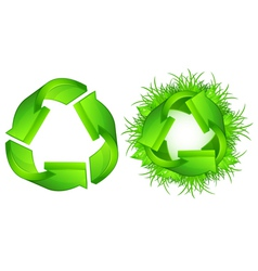 green recycle symbol isolated on white background vector image
