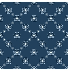 Seamless symmetrical pattern with snowflakes vector