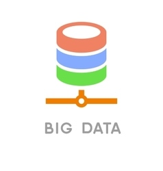 Big data and net technology icon vector