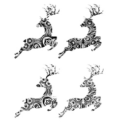 Cartoon ornamental deer5 vector