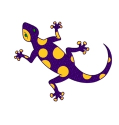 Purple yellow lizard vector