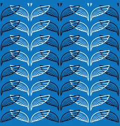 angel wings blue sketch pattern vector image vector image