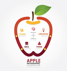 apple brain design diagram line style infographics vector image