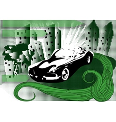 background with car vector image vector image