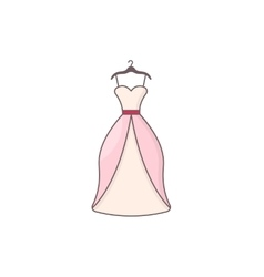 Beautiful dress for wedding or date vector image