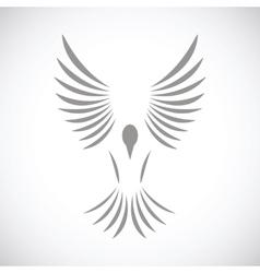 Bird black icon vector