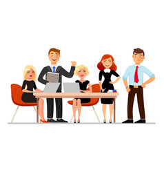 business people at the meeting isolated on white vector image