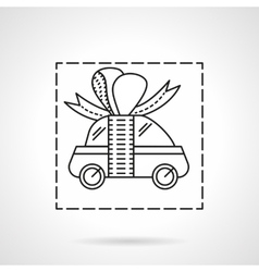 Car prize flat line icon vector